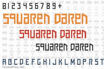 Squaren Daren Font