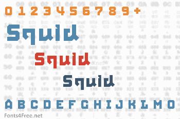 Squid Font