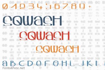 Sqwash Font