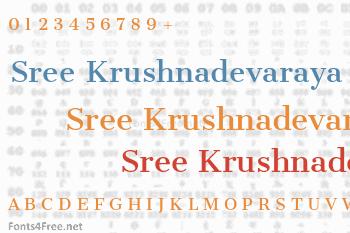 Sree Krushnadevaraya Font
