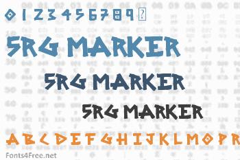 SRG Marker Font