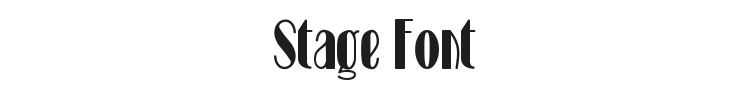 Stage Font
