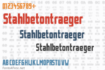 Stahlbetontraeger Font