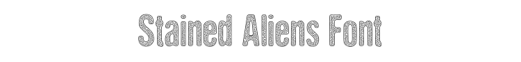 Stained Aliens Font Preview