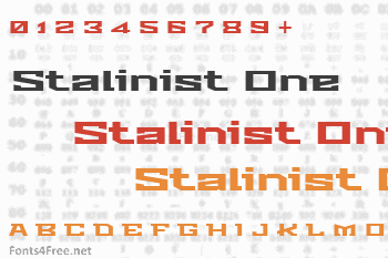 Stalinist One Font