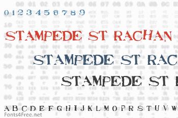 Stampede St Rachan Font