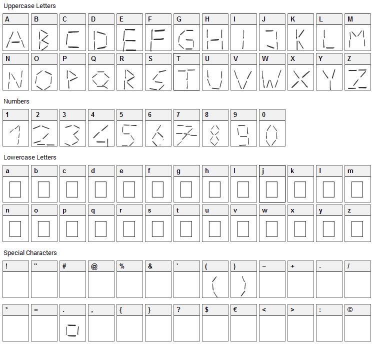 Stapler Font Character Map
