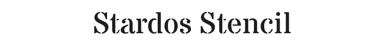 Stardos Stencil Font Preview