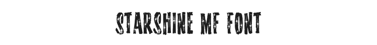 Starshine MF Font Preview