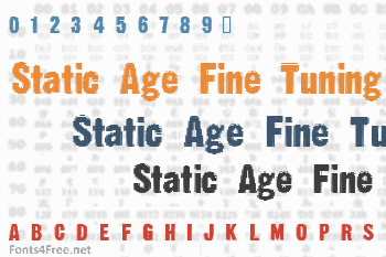 Static Age Fine Tuning Font