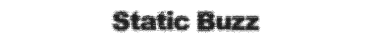 Static Buzz Font Preview