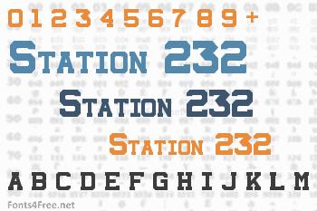 Station 232 Font