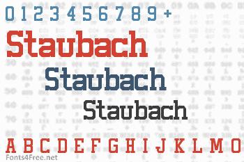 Staubach Font