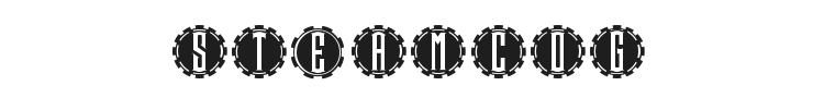 Steamcog Caps Font