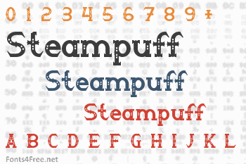 Steampuff Font