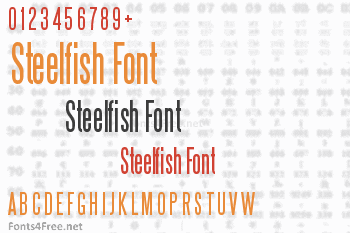 Steelfish Font Download - Fonts4Free