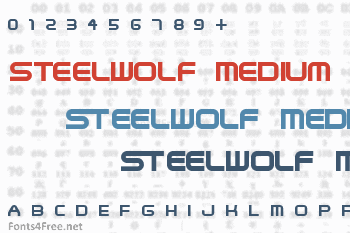 SteelWolf Medium Font