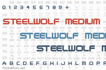 SteelWolf Medium Font