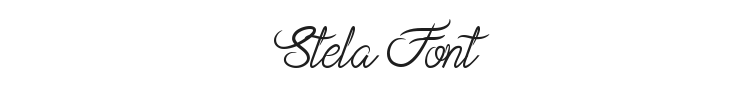 Stela Font Preview