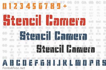 Stencil Camera Font