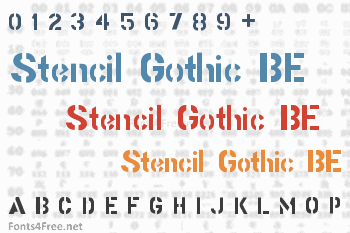 Stencil Gothic BE Font