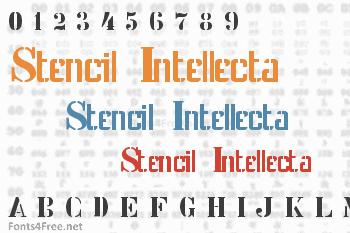 Stencil Intellecta Font
