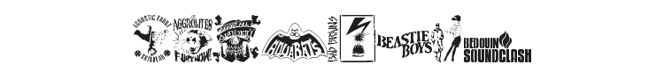 Stencil Punks Band Logos Font Preview