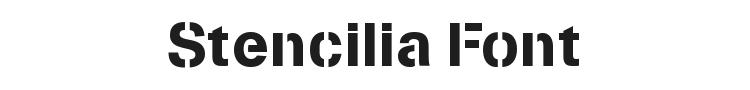 Stencilia Font Preview