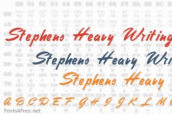 Stephens Heavy Writing Font