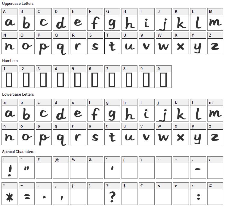 Stereo Hi-Fi Font Character Map