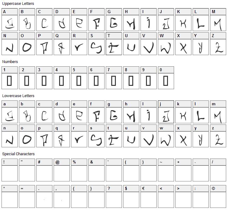 STHLM Graffiti Font Character Map