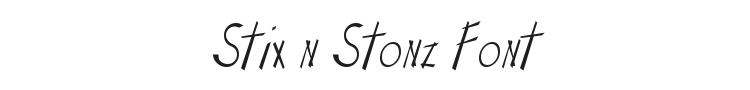 Stix n Stonz Font Preview