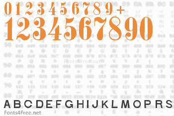 Stohr Numbers Font