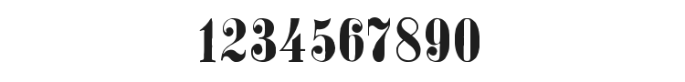 Stohr Numbers Font Preview