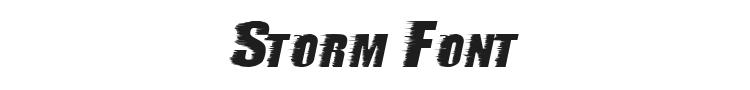 Storm Font Preview