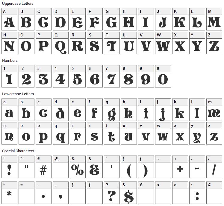 Storybook Font Character Map
