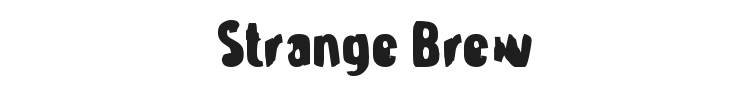 Strange Brew Font Preview