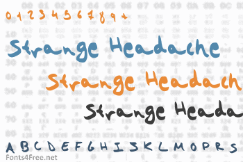 Strange Headache Font