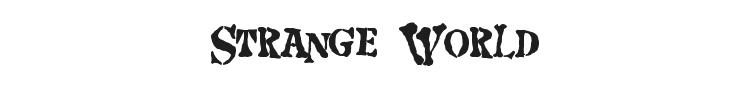 Strange World Font Preview