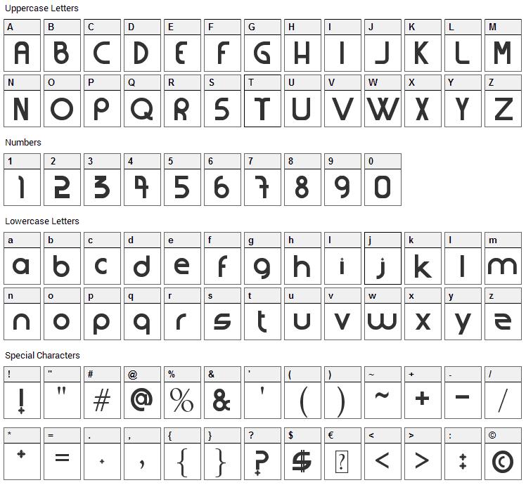 Strangferfixcs Font Character Map