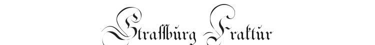 Strassburg Fraktur Font Preview