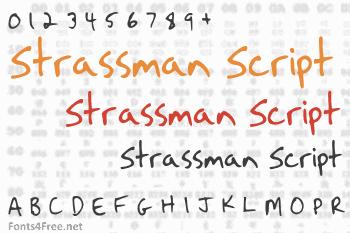 Strassman Script Font