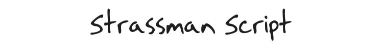 Strassman Script Font Preview