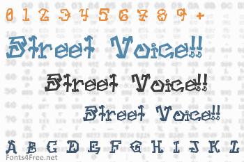 Street Voice!! Font