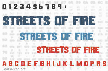 Streets of Fire Font
