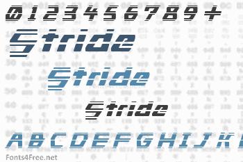 Stride Font