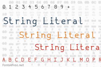 String Literal Font
