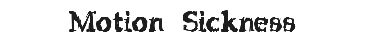 Strip Club Motion Sickness Font Preview