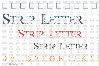 Strip Letter Font
