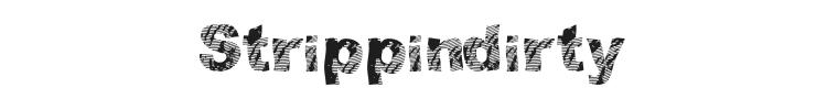 Strippindirty Font